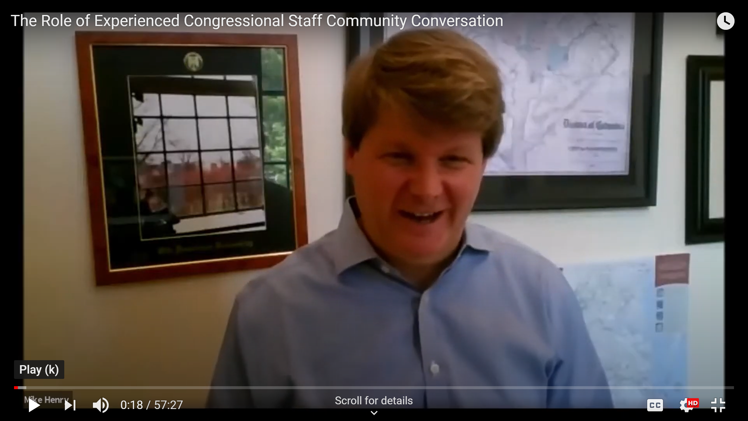 Watch: The Role of Experienced Congressional Staff